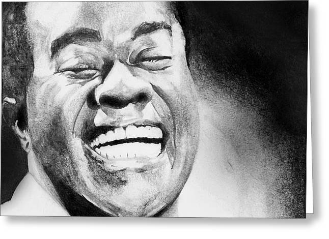 Carrie Jackson Studios Greeting Cards - Satchmo Greeting Card by Carrie Jackson