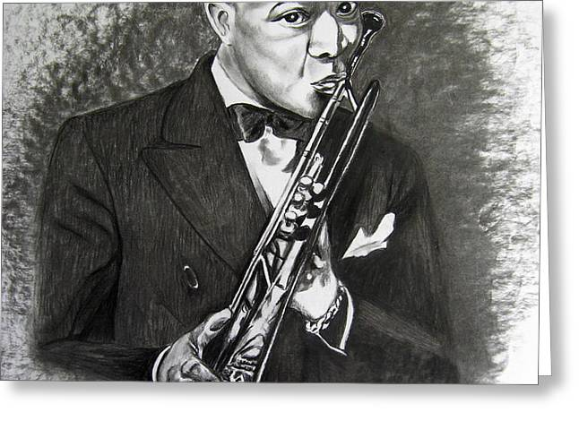Satchmo Greeting Card by Toni  Thorne