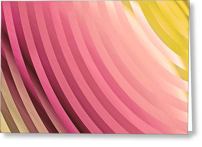 Satin Movements Coral Greeting Card by Mindy Sommers