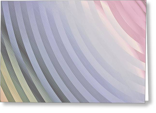 Muted Mauve Greeting Cards - Satin Movements Lavender Greeting Card by Mindy Sommers