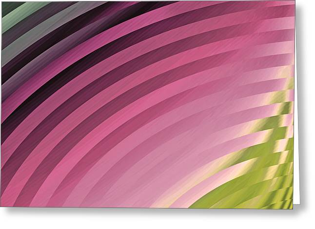 Satin Movements Pink II Greeting Card by Mindy Sommers