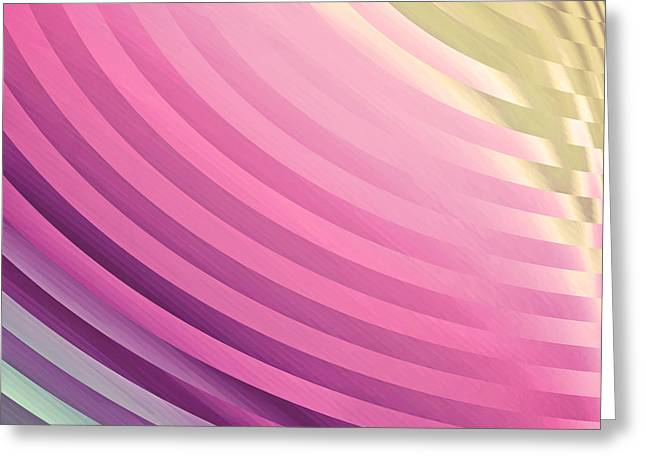 Satin Movements Pink Greeting Card by Mindy Sommers