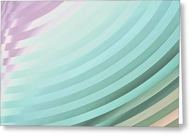 Satin Movements Sky Blue Greeting Card by Mindy Sommers