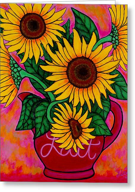 Lisa Lorenz Greeting Cards - Saturday Morning Sunflowers Greeting Card by Lisa  Lorenz