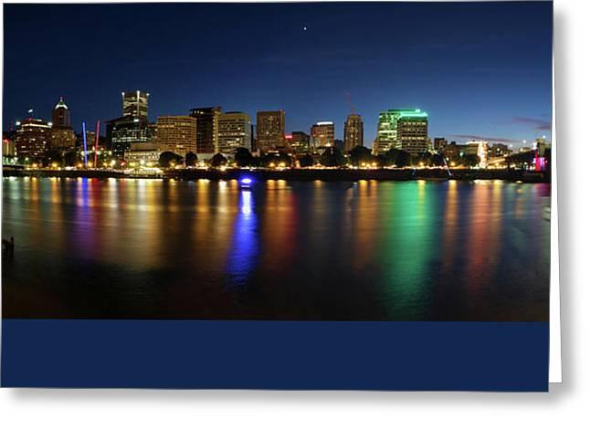 Streetlight Greeting Cards - Saturday NIght Portland v. 2.0 Greeting Card by Scott Brindle