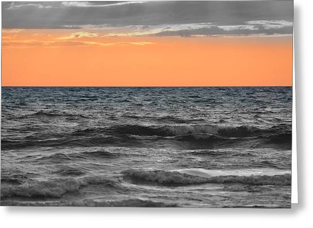 Sand Art Greeting Cards - Sauble Beach Sunset 2015 - f2g Greeting Card by Richard Andrews