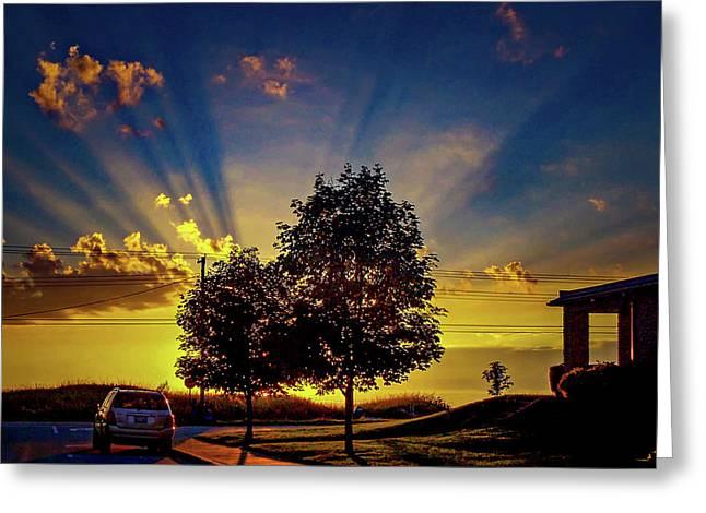 Sunset Prints Greeting Cards - Sauble Beach Sunset Greeting Card by Steve Harrington