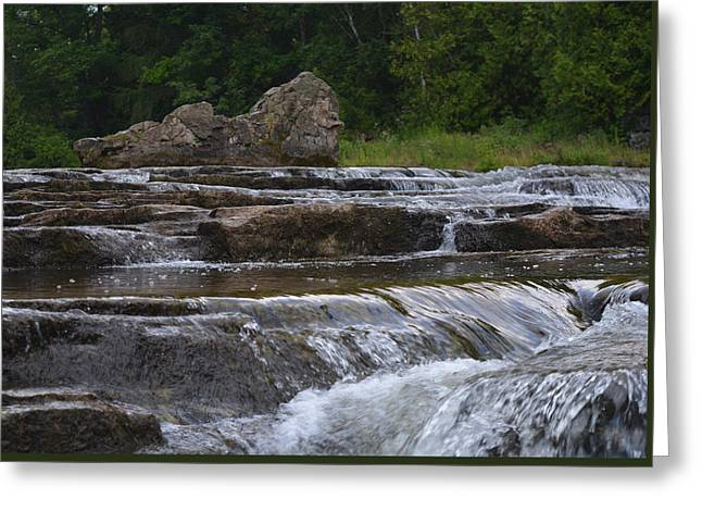 White Digital Art Greeting Cards - Sauble Falls Greeting Card by Richard Andrews