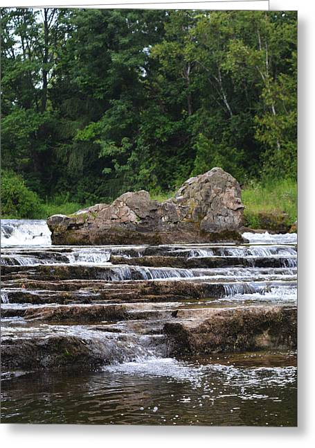 Stream Digital Greeting Cards - Sauble Falls - Vertical Format Greeting Card by Richard Andrews