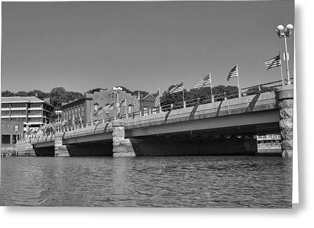 Westport Ct Greeting Cards - Saugatuck River Bridge Westport CT Greeting Card by Stephanie McDowell
