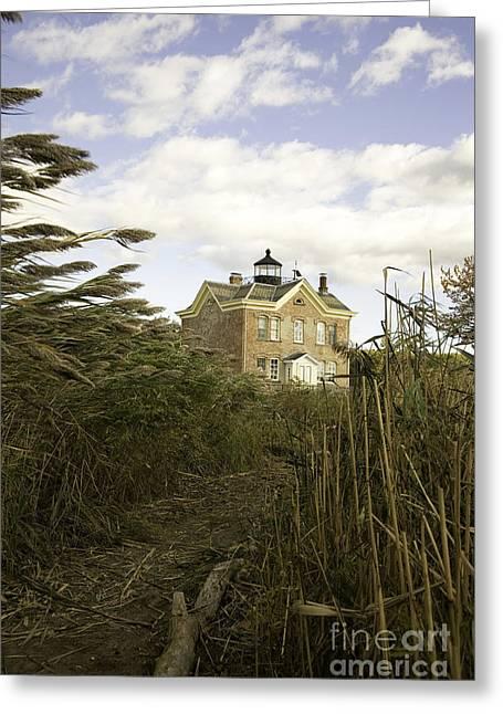 Saugerties Greeting Cards - Saugerties Historic Lighthouse in Esopus Estuary Greeting Card by Karen Foley