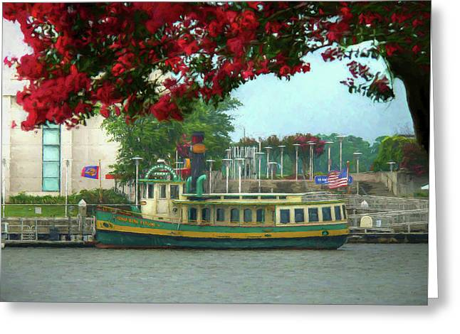 Savannah Belles Ferry - The Susie King Taylor Greeting Card by John Adams