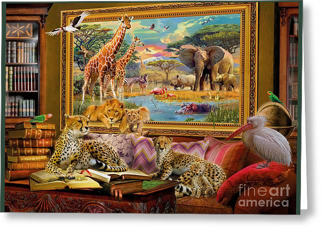 Landscape Pictures Greeting Cards - Savannah coming to life Greeting Card by Jan Patrik Krasny