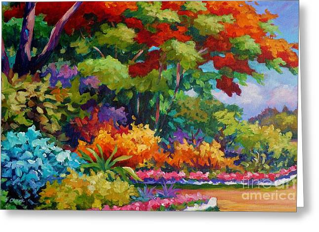 Savannah Garden Greeting Card by John Clark