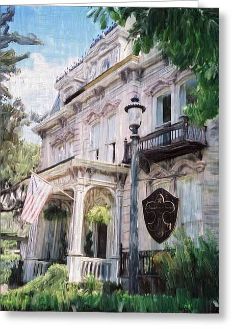 Slavery Paintings Greeting Cards - Savannah Original Home Of The Girl Scouts Greeting Card by Donald Pavlica
