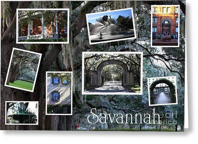 Carol Groenen Greeting Cards - Savannah Scenes Collage Greeting Card by Carol Groenen