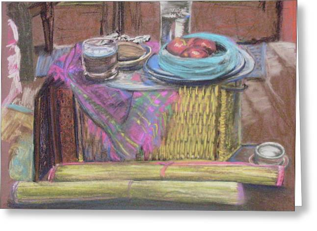 Laundry Mat Greeting Cards - Savannah Still Life Greeting Card by Jana Barros