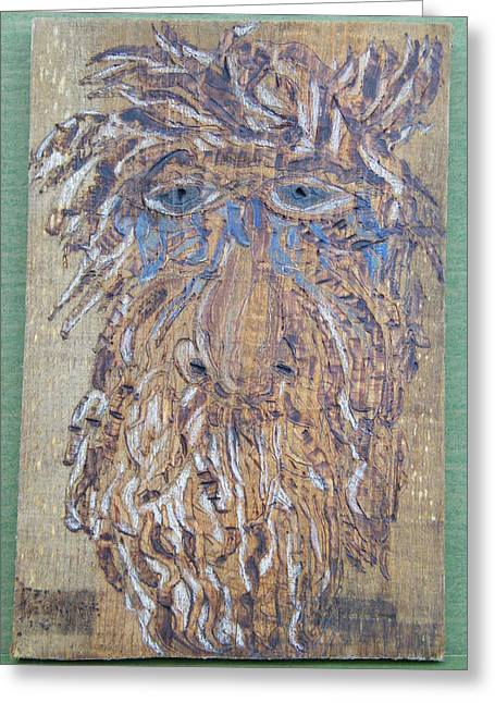 Woodburn Pyrography Greeting Cards - Save My Trees Greeting Card by Margaret G Calenda