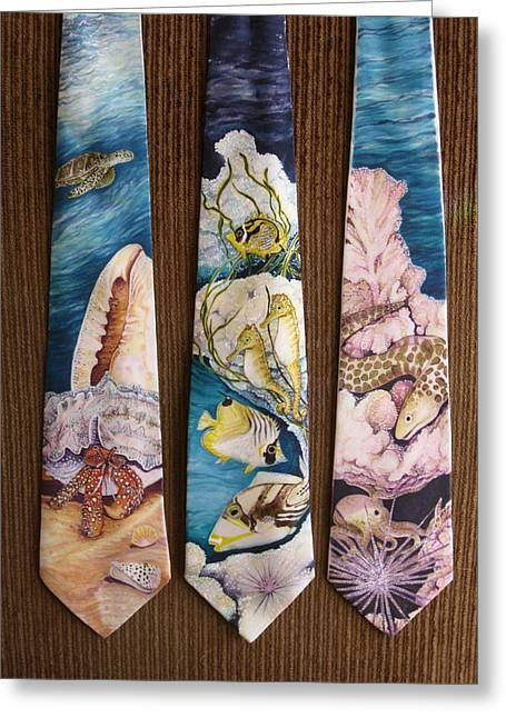 Marine Fish Tapestries - Textiles Greeting Cards - Save Our Seas - Series ll Greeting Card by David Kelly