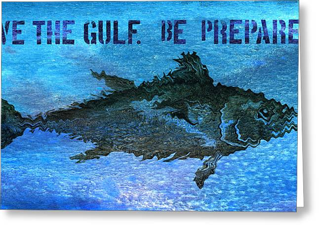 Oil Mixed Media Greeting Cards - Save the Gulf America 2 Greeting Card by Paul Gaj