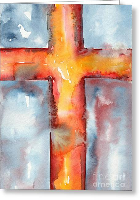Holy Thursday Greeting Cards - Saved Greeting Card by Ruth Borges
