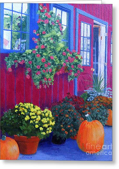Upstate Paintings Greeting Cards - Savickis Market Greeting Card by Lynne Reichhart