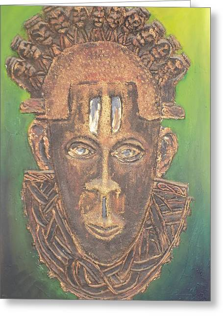 Chic Reliefs Greeting Cards - Queen Idia of Benin Greeting Card by Olaoluwa Smith