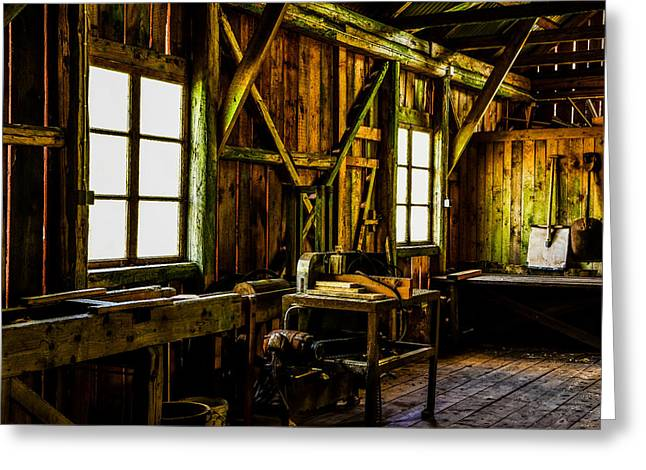 Saw Greeting Cards - Saw mill Greeting Card by Toppart Sweden