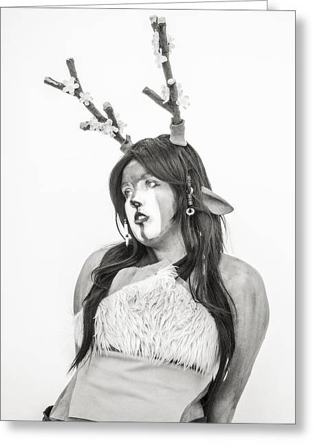 Cosplay Photographs Greeting Cards - Sawsbuck Spring Form Greeting Card by Hsin Liu