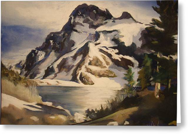 Sawtooth Mountain Lake Greeting Card by Debbie Anderson