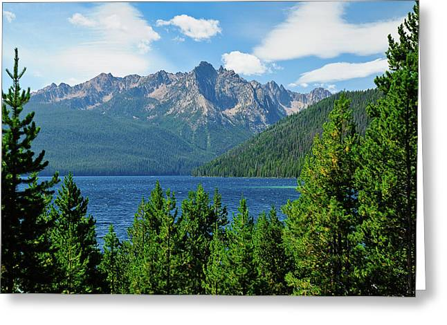 Sawtooth Mountain Art Greeting Cards - Sawtooth Serenity Greeting Card by Greg Norrell