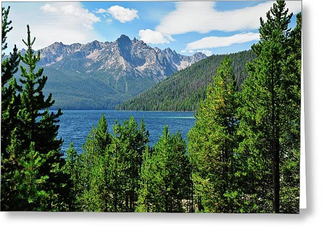 Sawtooth Mountain Art Greeting Cards - Sawtooth Serenity II Greeting Card by Greg Norrell