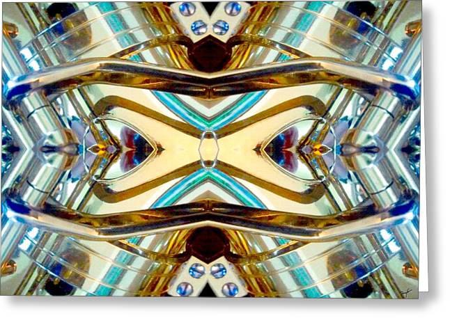 Golden Globe Award Greeting Cards - Saxoglasses Greeting Card by Romy Galicia