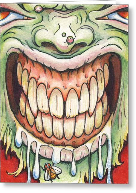 Grimace Greeting Cards - Say Cheese Greeting Card by Amy S Turner