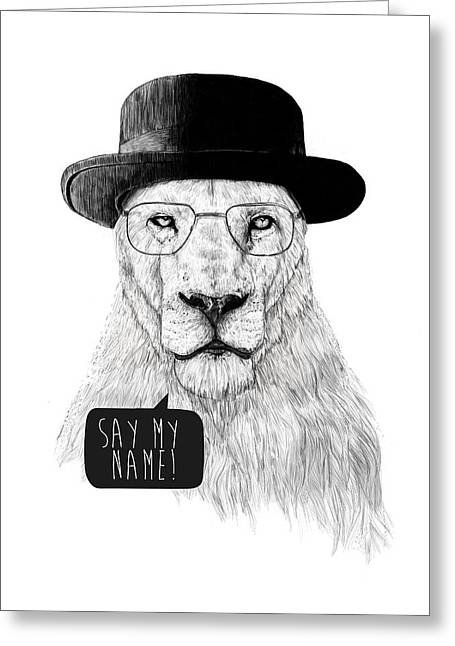 Lions Greeting Cards - Say my name Greeting Card by Balazs Solti