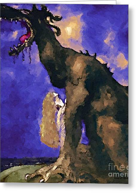 Breathing Mixed Media Greeting Cards - Saying Goodbye Greeting Card by Jerry L Barrett