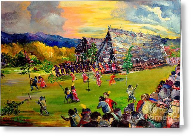 Debt Paintings Greeting Cards - Sbiah baah Greeting Card by Jason Sentuf