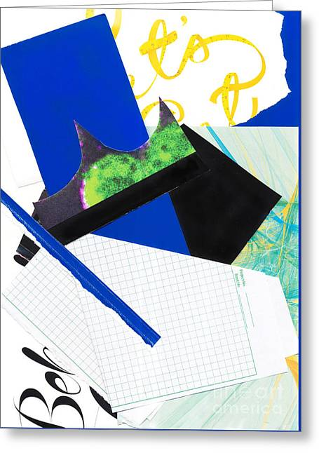 Geometric Digital Art Greeting Cards - ScanArt 2 Greeting Card by Elena Nosyreva