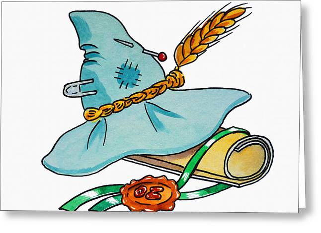 Brain Paintings Greeting Cards - Scarecrow Hat From Wizard Of Oz Greeting Card by Irina Sztukowski