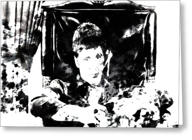 Cuban Refugee Greeting Cards - Scarface Reflects Greeting Card by Brian Reaves
