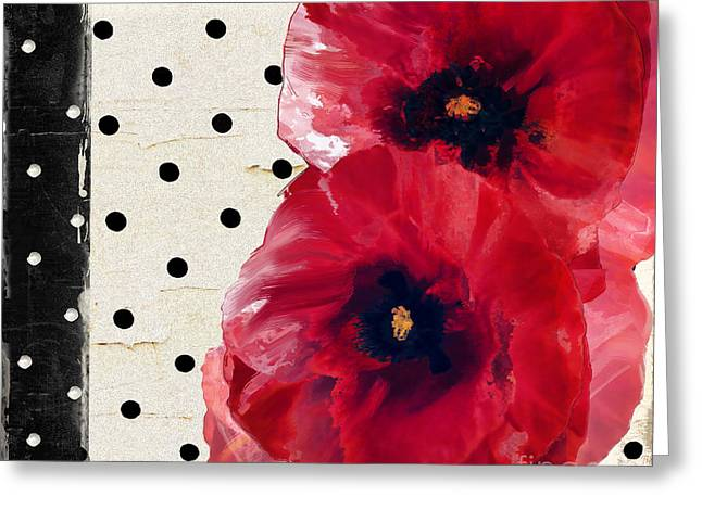 Scarlet Poppies Greeting Card by Mindy Sommers