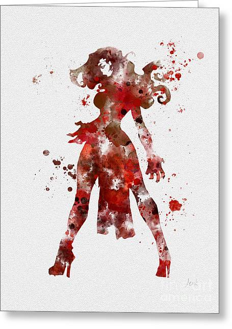 X-men Greeting Cards - Scarlet Witch Greeting Card by Rebecca Jenkins