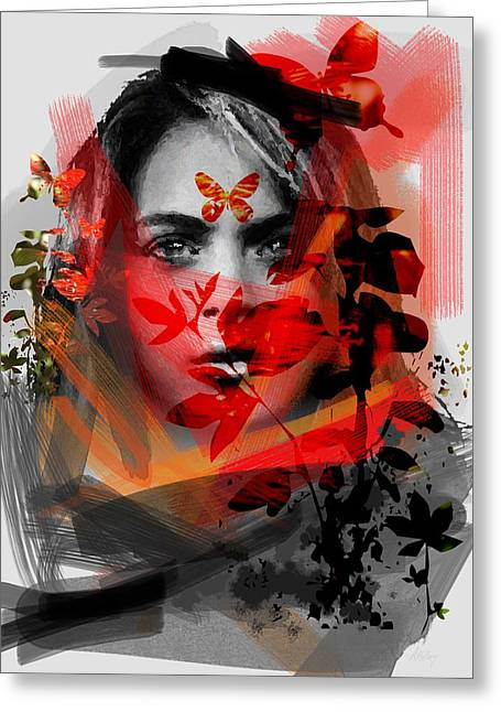 Layers Greeting Cards - Scarlett Greeting Card by Andre Pillay