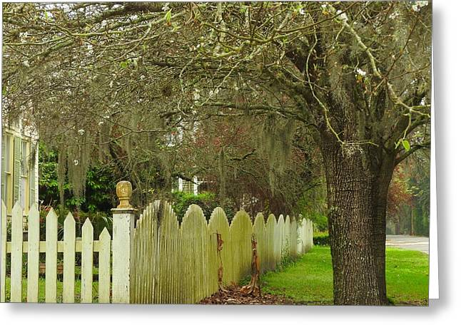 Ssi Greeting Cards - Scarlett House Fence Greeting Card by Laura Ragland