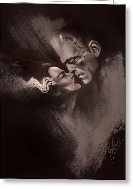 Creating Greeting Cards - Scarred Lovers Greeting Card by Alex Ruiz