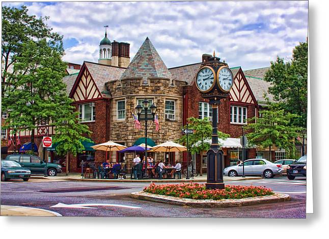 Main Street Greeting Cards - Scarsdale New York Greeting Card by June Marie Sobrito
