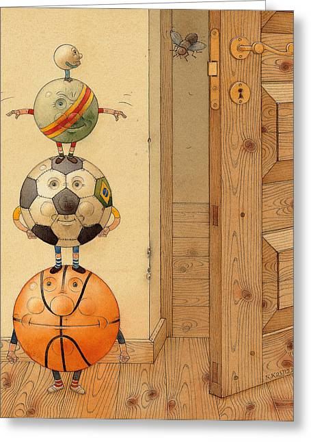 Ball Room Greeting Cards - Scary Story Greeting Card by Kestutis Kasparavicius