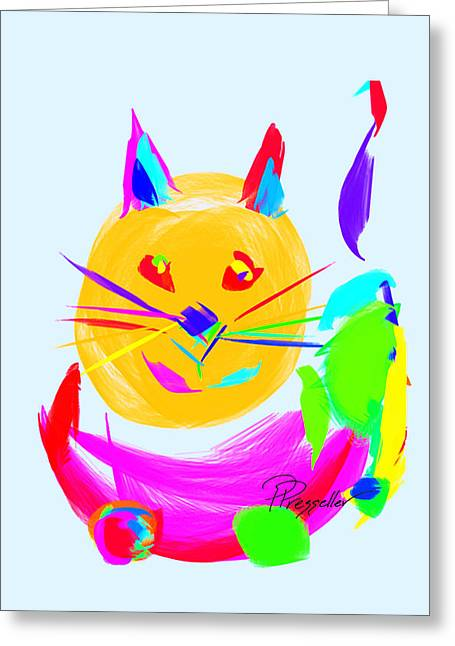 Kitten Prints Greeting Cards - Scat II Greeting Card by Patricia Presseller