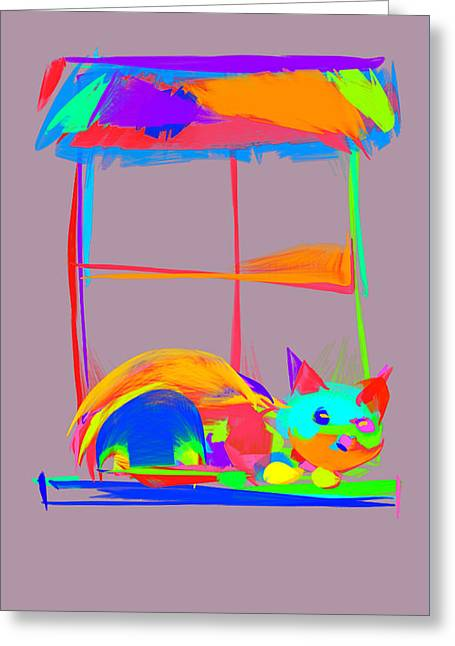 Kitten Prints Greeting Cards - Scats VI Greeting Card by Patricia Presseller