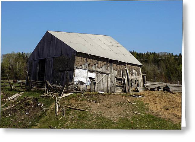 Old Maine Barns Greeting Cards - Scatter Barn Greeting Card by William Tasker